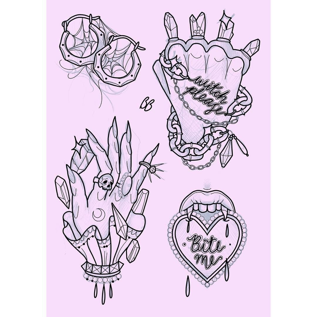 Skulls Girly Archives | Best Cool Tattoo Designs  |Cool Drawings Flash Girly