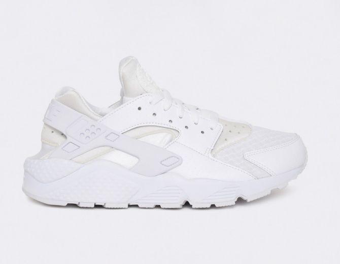 #Nike Air Huarache Triple White #sneakers