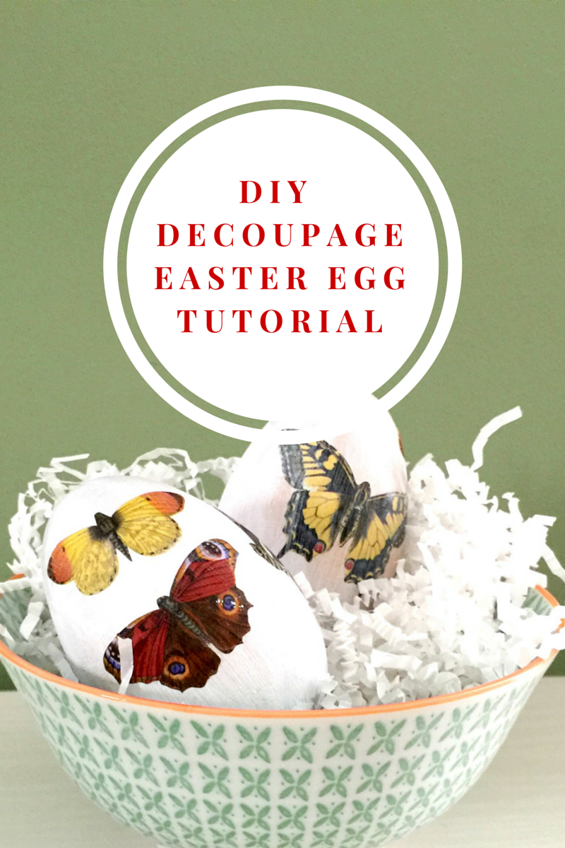 Decorate your home for Easter: Make these DIY Decoupage Easter Eggs using Martha Stewart Crafts decoupage papers: Click for the Tutorial