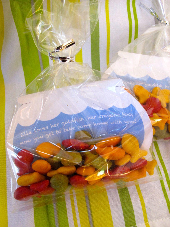 Elmo goldfish party favor tags sesame street favors