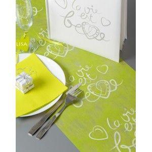 Chemin De Table La Vie Est Belle Intisse Couleur 5 M Chemin De Table Mariage Chemin De Table Intisse