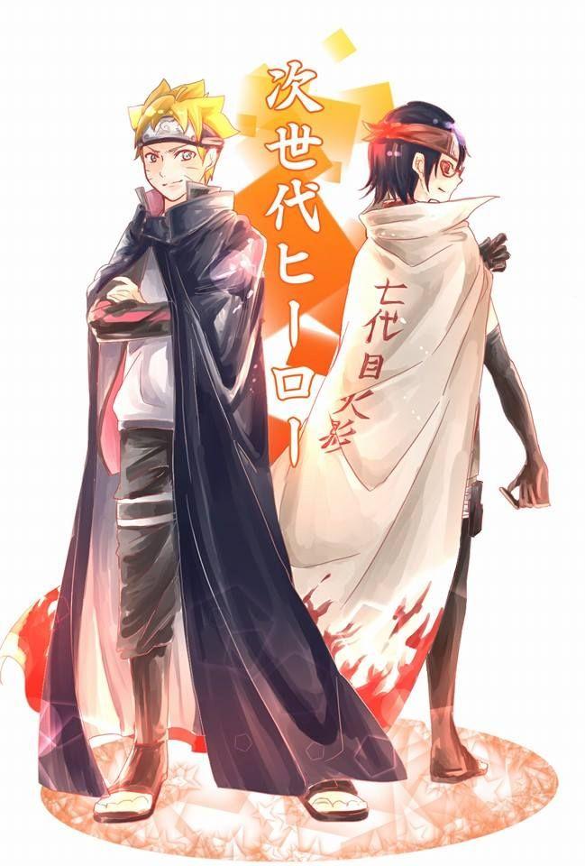 Boruto Admires Sasuke Sarada Admires Naruto Naruto Cute Boruto