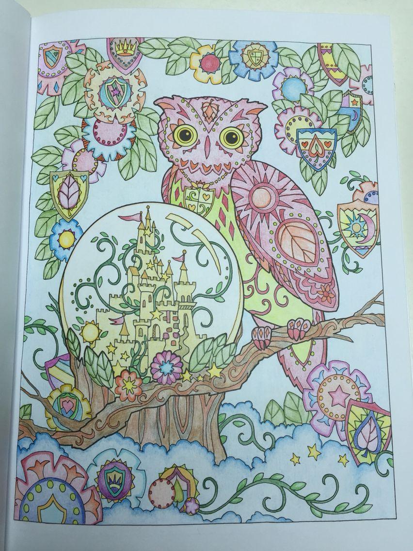 Anti stress colouring book asda - Colouring Creative Haven Owls 16