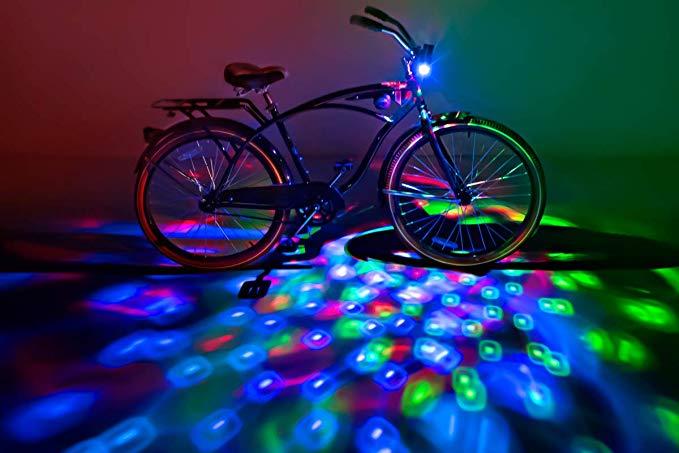 LED Waterproof Safe Accessories 1 Pack DAWAY A08 Bike Tire Valve Stem Light