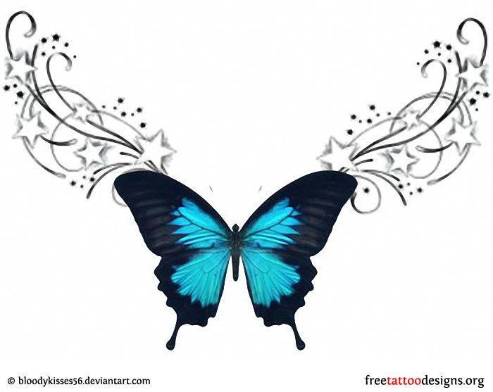 Lower Back Butterfly Tattoo Design Lower Back Tattoo Designs
