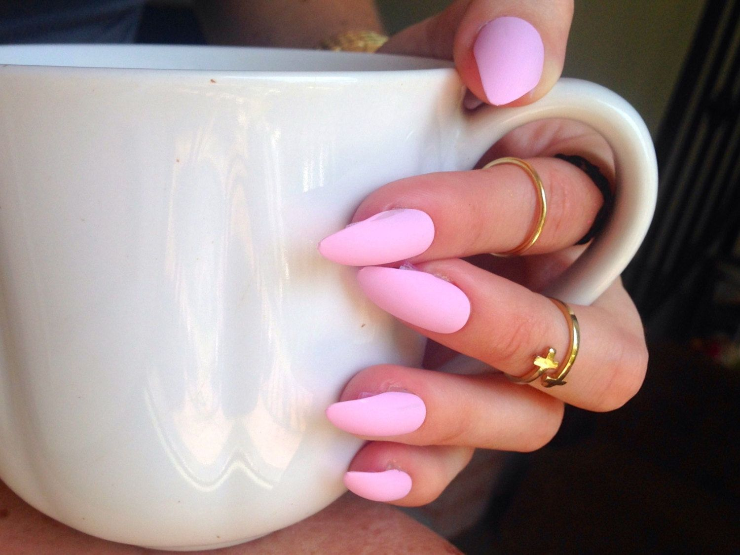 light pink matte acrylic nails - Google Search | Nails<3 | Pinterest ...