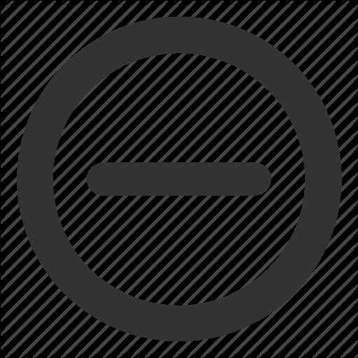 Delete Minus No Remove Icon Download On Iconfinder Icon All Icon Icon Set