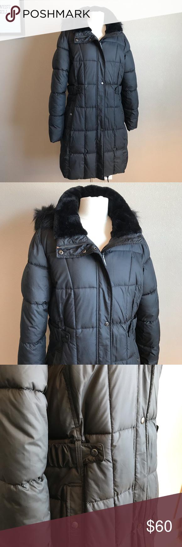Liz Claiborne Outerwear L Liz Claiborne Long Winter Jacket Clothes Design [ 1740 x 580 Pixel ]