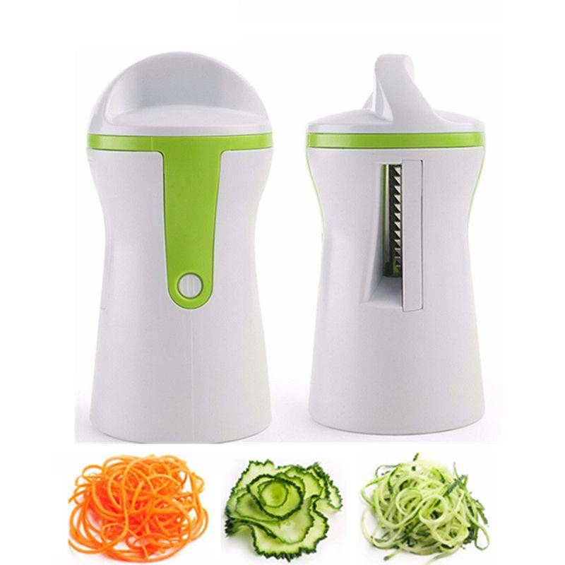 2 Knife Edge Vegetable Spiralizer Kitchen Gadgets Fruit ...
