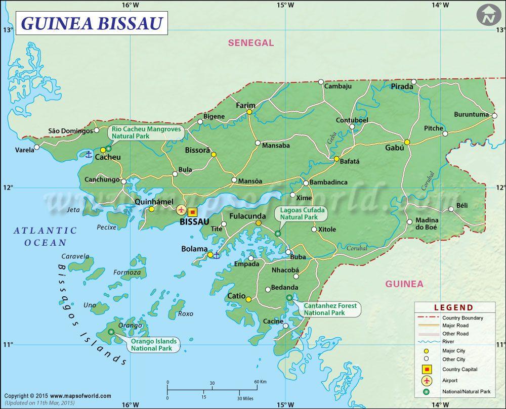 Guinea Bissau Map GuineaBissau Pinterest Guinea bissau and City