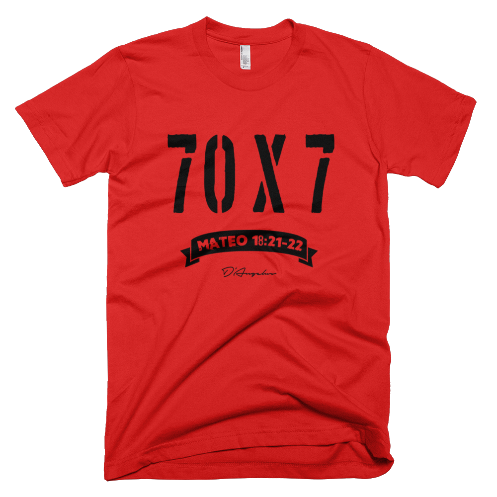 Setenta veces 7 - Red T-Shirt via D'Angelus. Click on the image to see more!