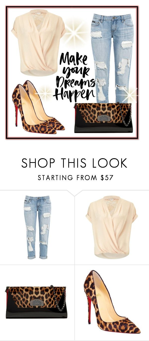 """Bez naslova #295"" by blackangel98 ❤ liked on Polyvore featuring Miss Selfridge and Christian Louboutin"