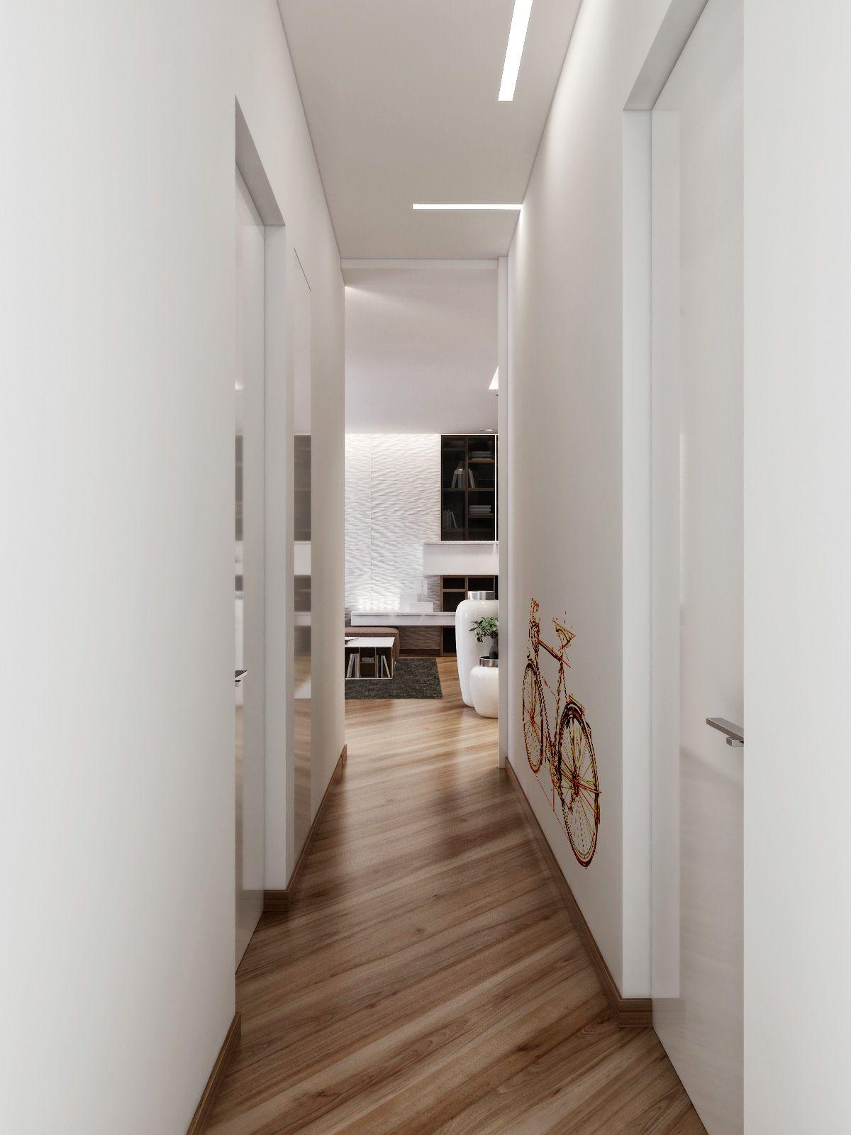 znalezione obrazy dla zapytania small corridor design