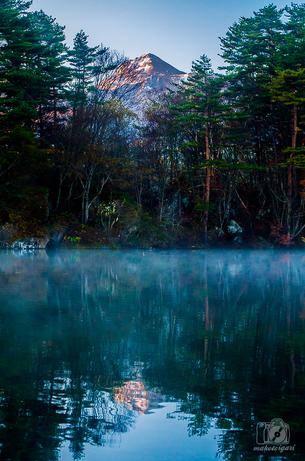 五色沼,毘沙門沼,北塩原村,紅葉,薄明, | 美しい景色 | Pinterest ...
