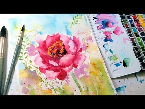 Loose Easy Watercolor Tutorial In 2019 Watercolour Tutorials