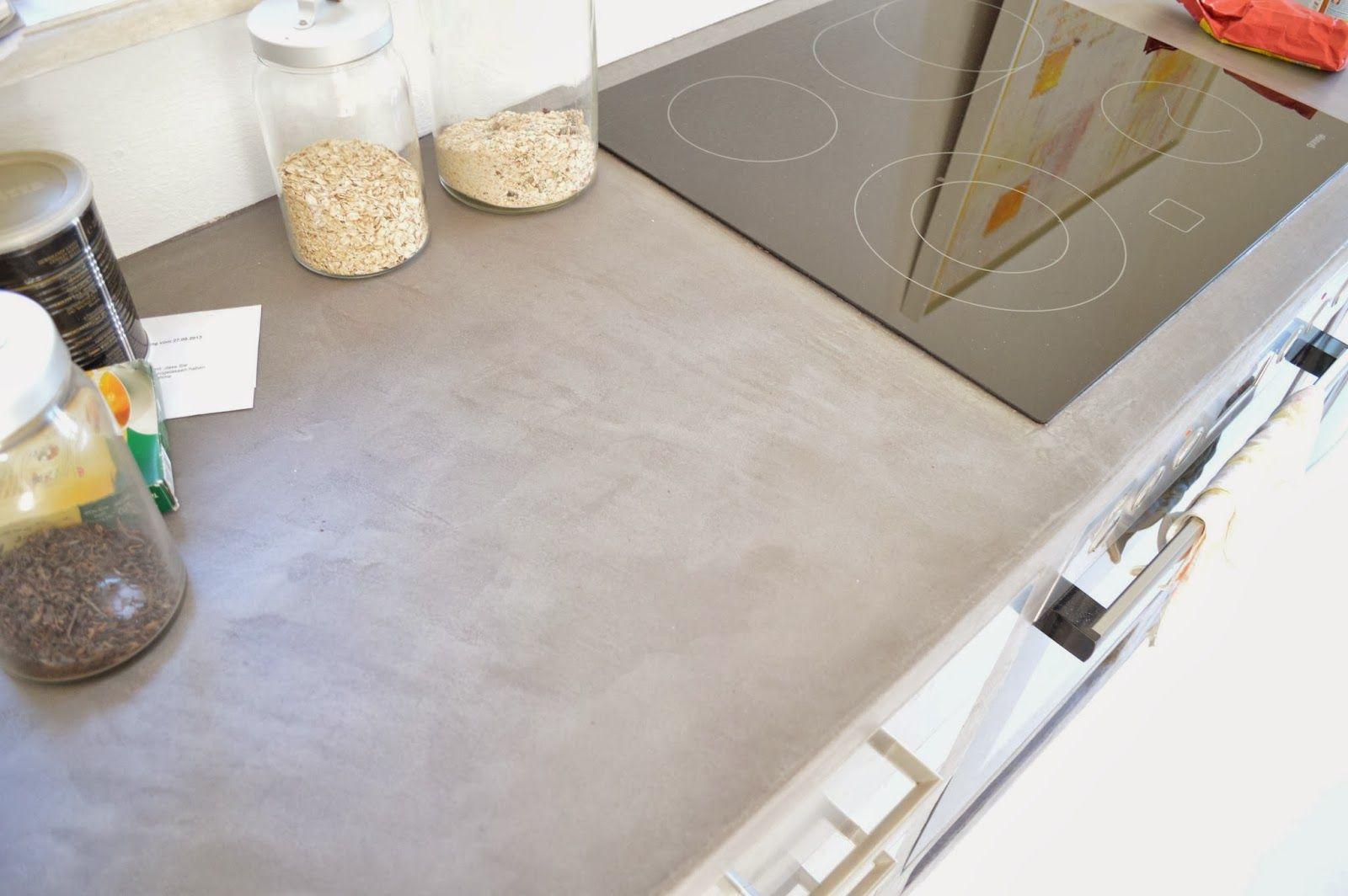 Beton Cire Arbeitsplatte wand wohndesign beton cire moodboard küche beton
