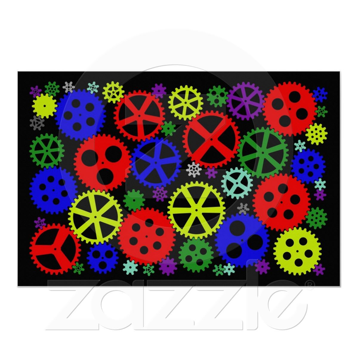 Colorful Gears 36 x 24 Poster for kids By Steve Brownlee