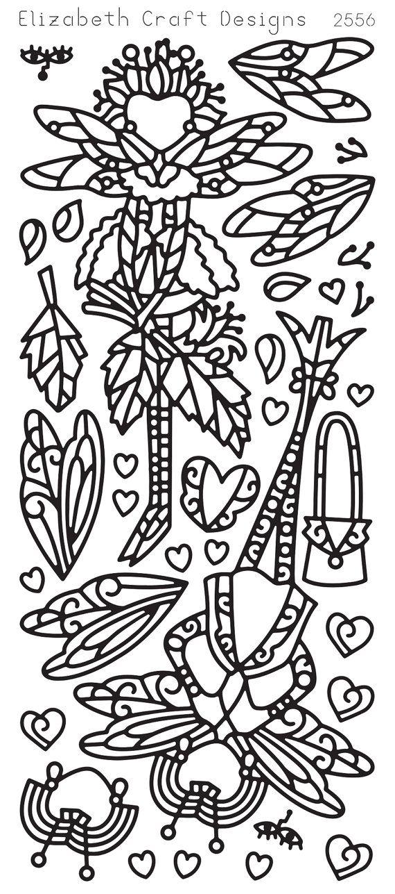 Elizabeth Craft Designs Peel-Off Sticker -2556B Dragon Fly Ladies 2