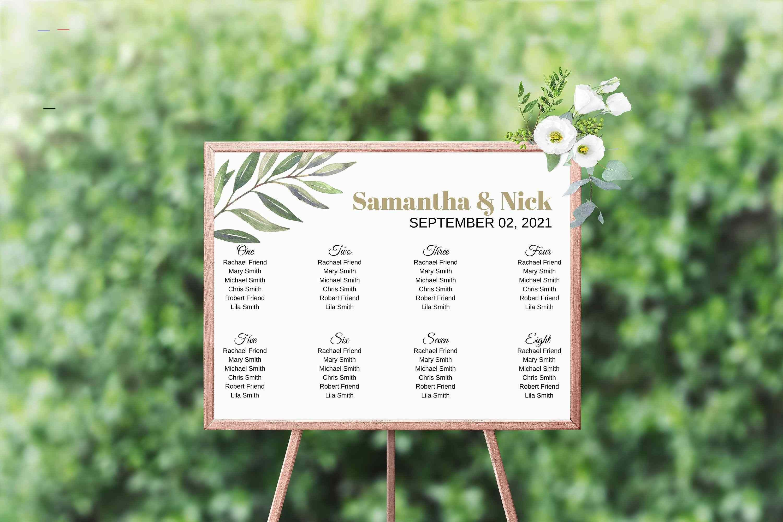Samantha Instant Download Wedding Dinner Menu Greenery Wedding Menu Wedding Menu Template Menu Printable Menu Cards