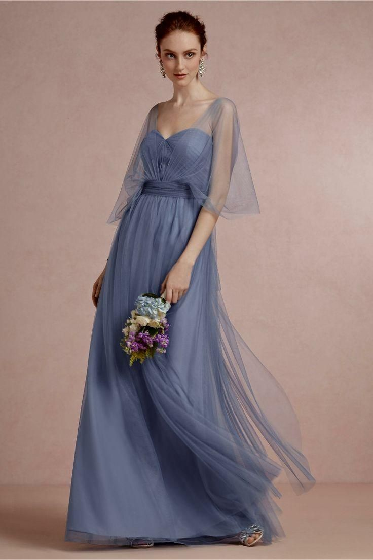 Product annabelle bridesmaid dress in steel blue from bhldn