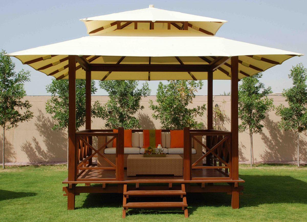 COBERTI Gazebo de madera con techo de lona, un toque diferente para ...