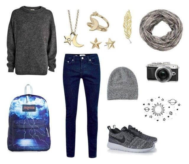 """""""Autumn"""" by annamaplemoose ❤ liked on Polyvore featuring Acne Studios, Topman, NIKE, JanSport, Miss Selfridge, Rebecca Minkoff, Retrò, maurices, Toast and women's clothing"""