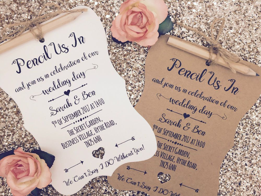 Pencil Us In Rustic Wedding Invitation Vintage We Do