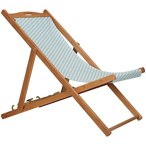 Buy John Lewis Patterned Deckchair Online At Johnlewis Com Outdoor Furniture Beach Chairs Outdoor Decor