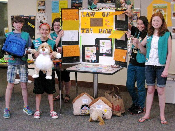 Oakdale Girl Scout Troop Helps Local Animal Shelter Animal Shelter Girl Scouts Girl Scout Troop