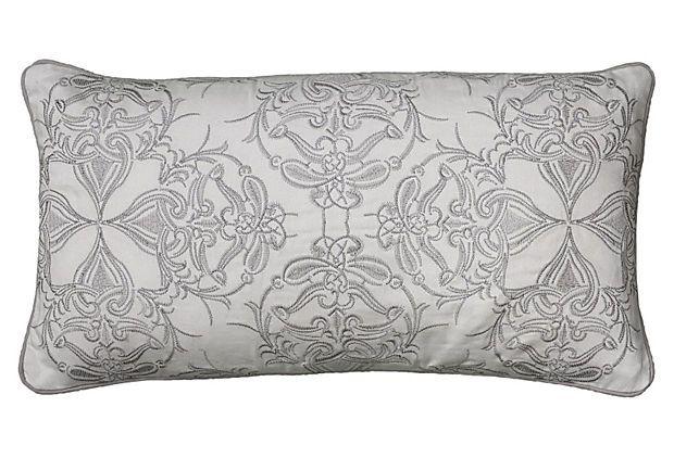 Motif 11x21 Pillow Silver On Onekingslane Com Pillows Accent Pillow Cover Ivory Pillow