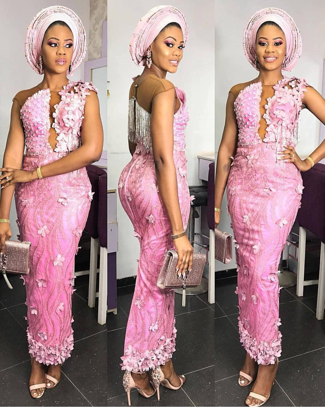 Aso Ebi Styles For Wedding Guest Aso Ebi Lace Styles Lace Fashion Nigerian Lace Styles