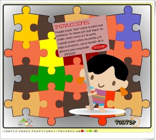 Los Puzzles Y Las Tablas De Multiplicar Mario Ramos Rodríguez Tablas De Multiplicar Multiplicar Tablas