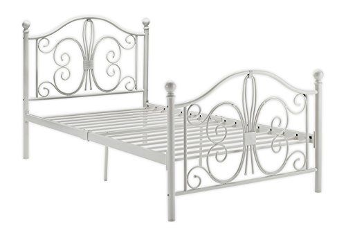 Dhp Bombay Metal Bed Twin White Http Www Amazon Com Dp B00h8i4c0q Ref Cm Sw R Pi Awdm X 5joby With Images Metal Beds Twin Size Metal Bed Frame Headboard And Footboard