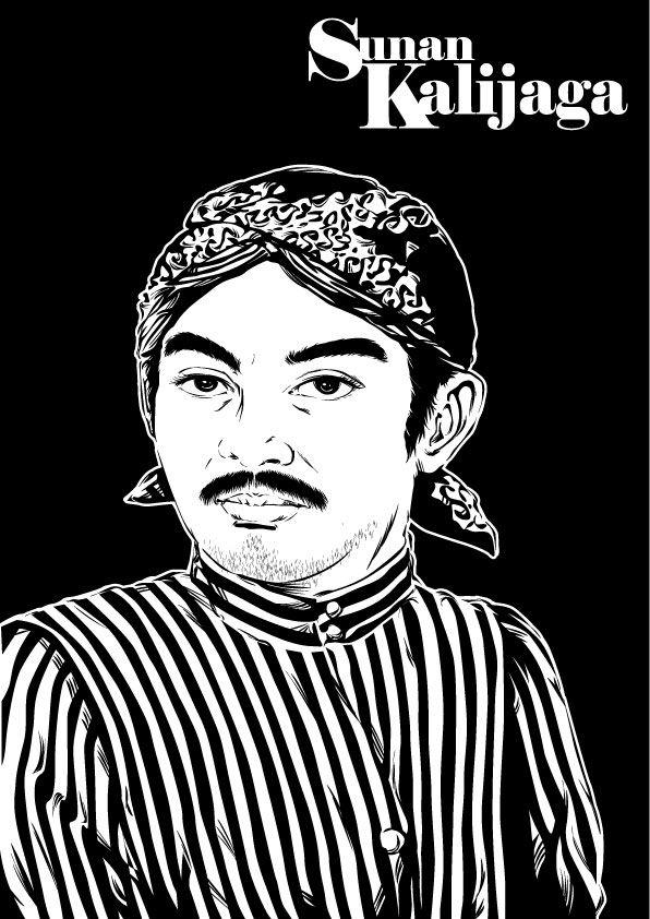 Sunan Kalijaga BW by astayogaviantart on DeviantArt