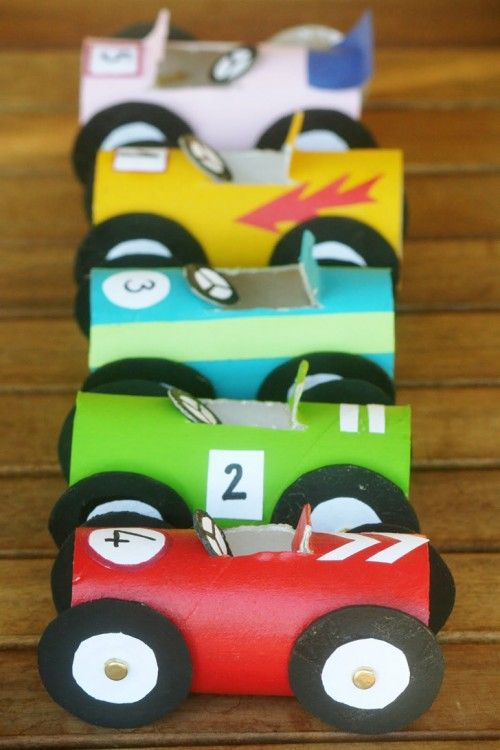 Toilet Paper Roll Race Cars | CRAFTS FOR TWINS | Pinterest ...