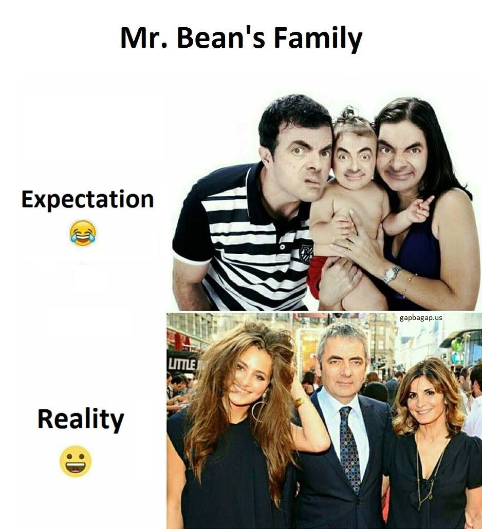 Funny joke about mr beans family