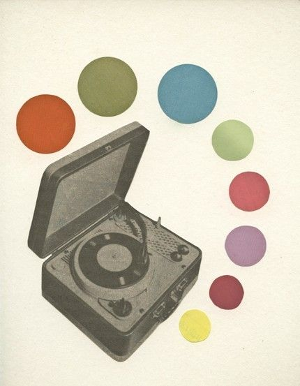 More cool dots. I could play my dad's stack of 45s on this. #prints #retro
