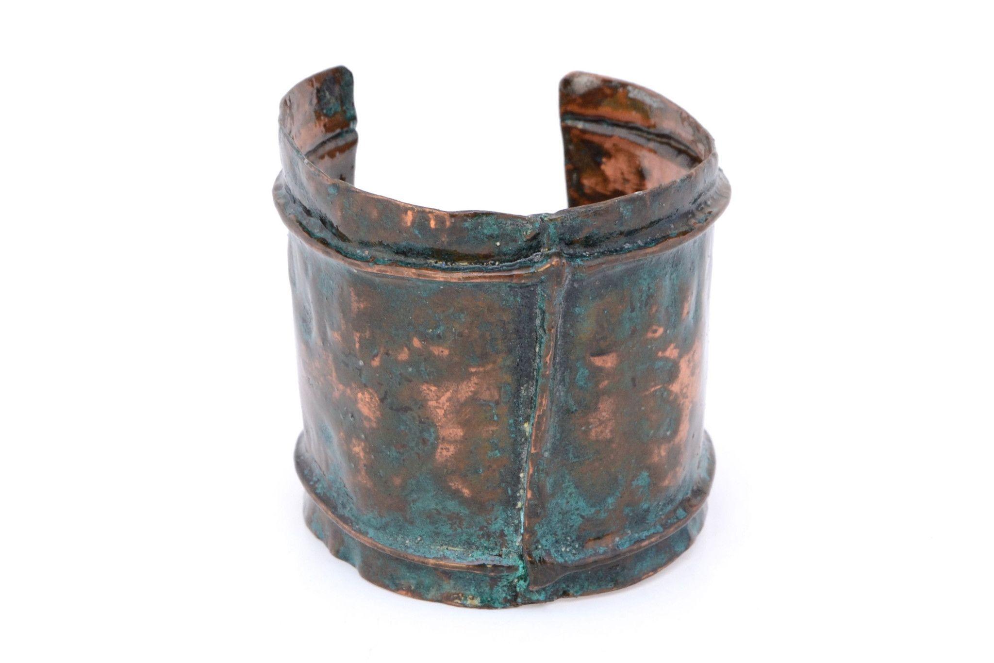 Patina Copper Cuff Bracelet - Large