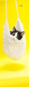 yellow kitten book mark