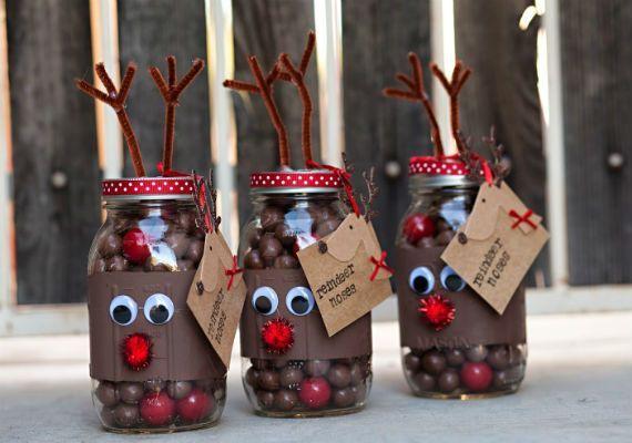 Obsequios navideños usando frascos de vidrio   Navidad diy ...