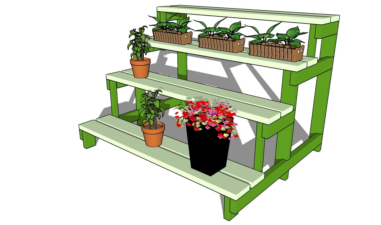 This Step By Woodworking Project Is About Outdoor Plant Stand Plans We Show You How To Build A 3 Tier Using Wooden Boards And Common