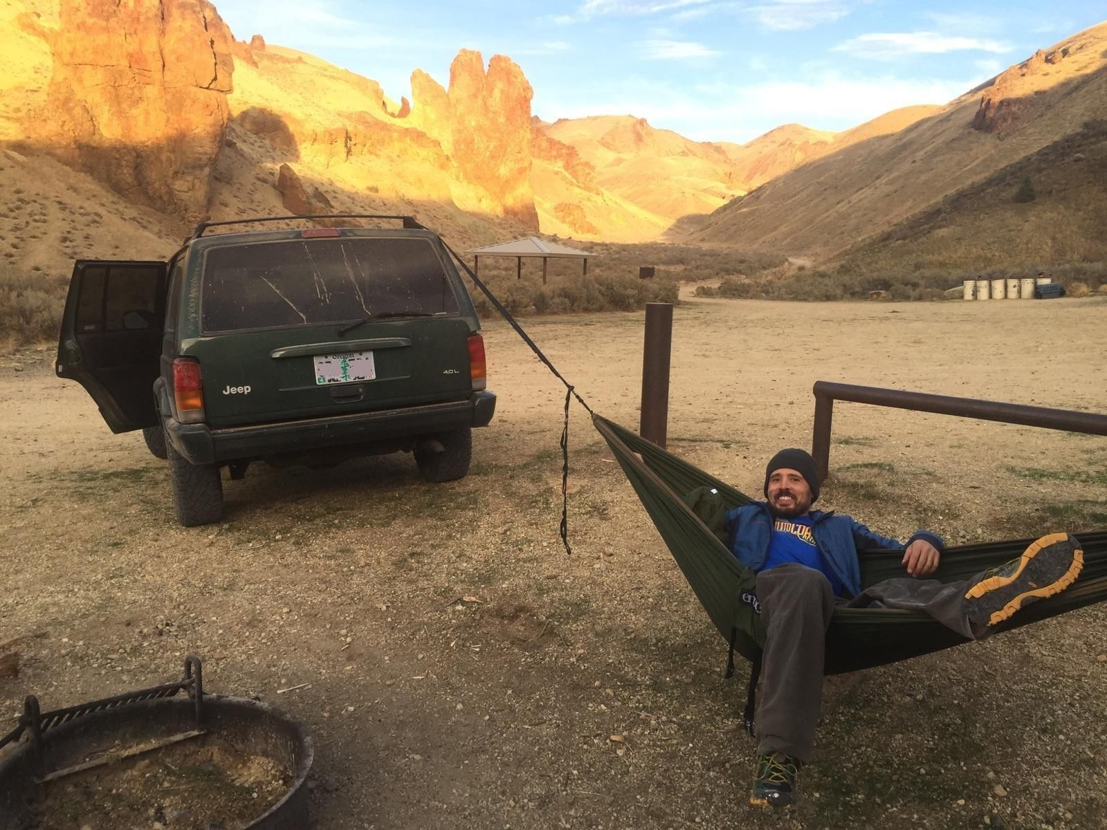 The Jeep Was Useful For Hammock Camping In The Desert Where Trees