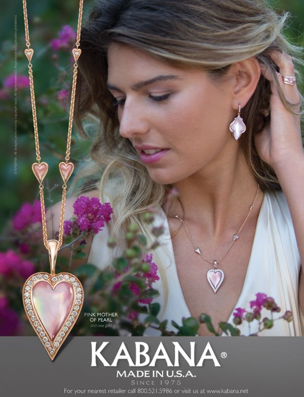 Kabanas ad for the Pink Mother of Pearl Collection This jewelry is
