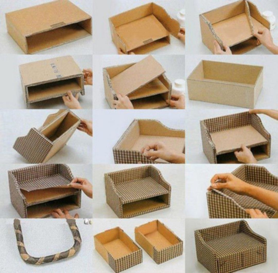 33 Most Creative Diy Storage That Will Enhance Your Home While Christmas Dexorate Diy Storage Boxes Cardboard Box Diy Cardboard Box Storage
