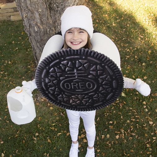 project denneler oreo cookie costume bricolage. Black Bedroom Furniture Sets. Home Design Ideas