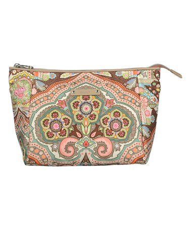Another great find on #zulily! Cappuccino Arabesque Large Cosmetic Bag #zulilyfinds