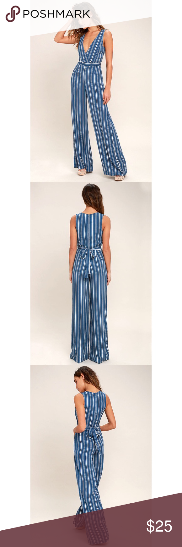 81185141bc4d Lulus Montauk Yacht Club Blue and White Striped Lulus Exclusive! The Lulus  Montauk Yacht Club Blue and White Striped Jumpsuit is our beach resort  go-to!
