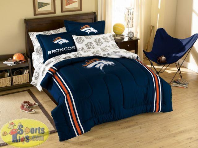 Northwest Denver Broncos Embroidered Comforter Set Twin