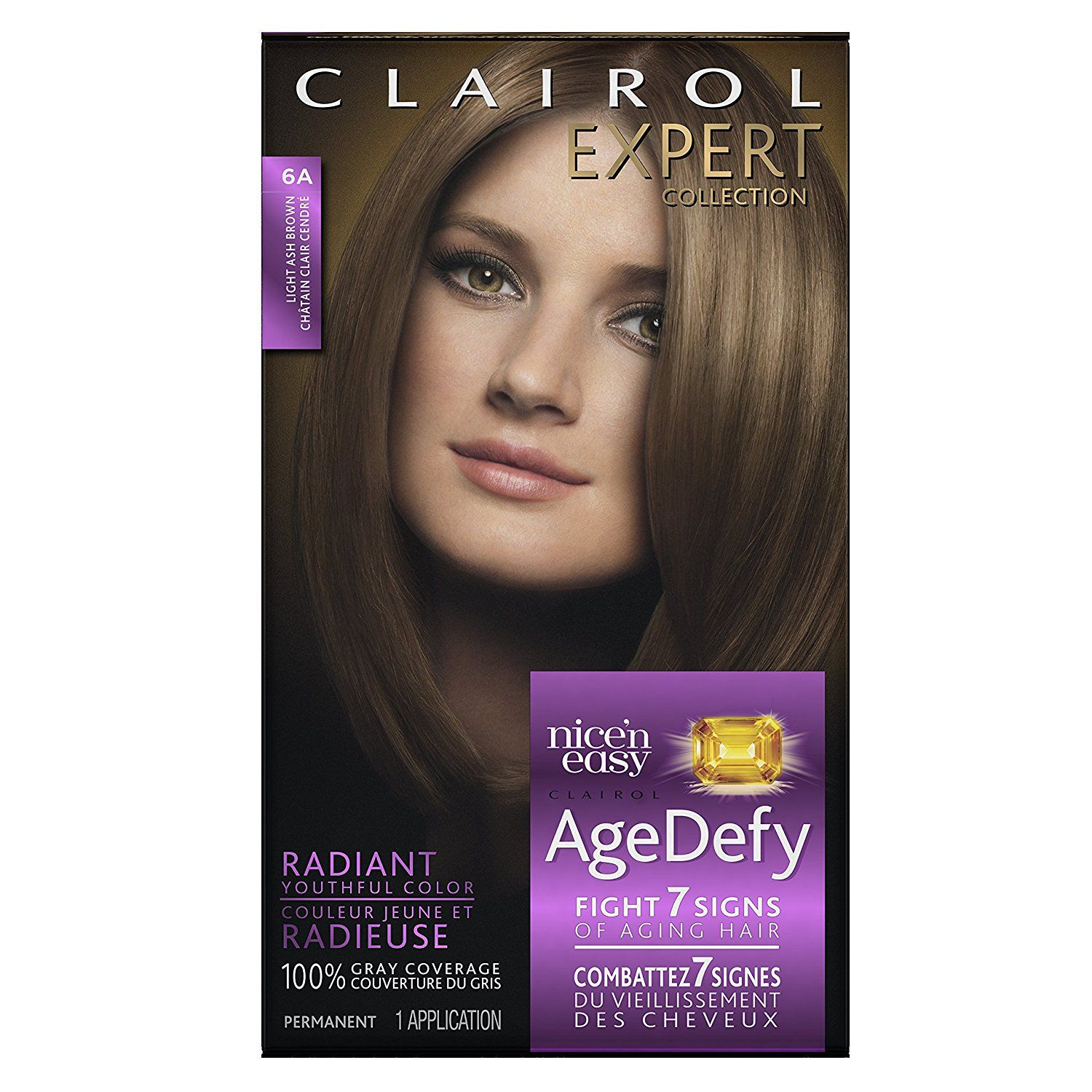 Clairol Age Defy Expert Collection 6a Hair Color Kit Light Ash