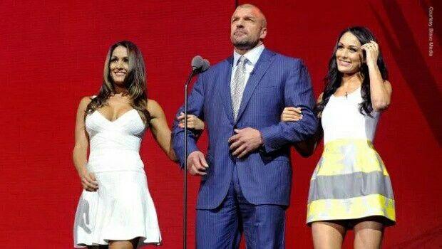 Triple H, Nikki, Brie Bella